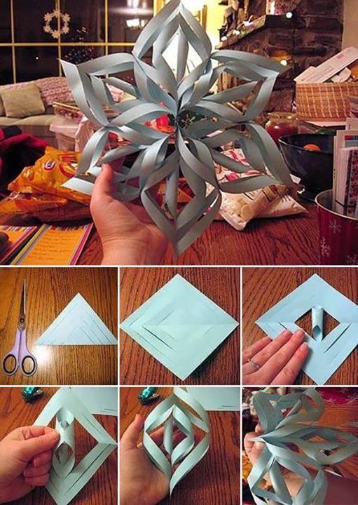 3D DIY paper snowflake for Xmas