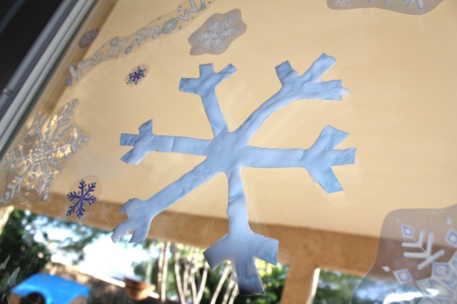 DIY Snow paint for Xmas