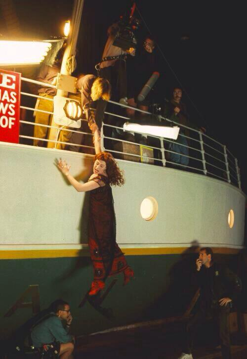 most amazing movie and TV behind-the-scenes of all time Jack saving Rose on the Titanic