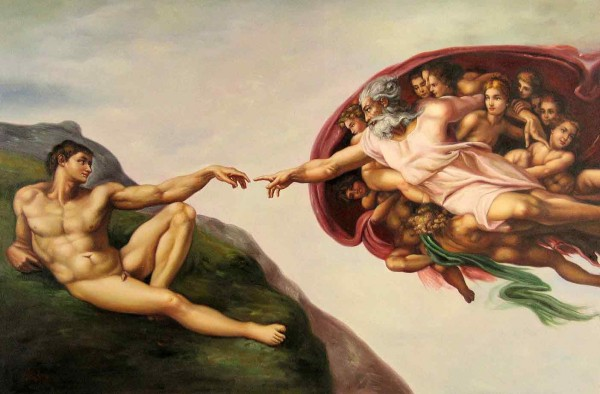 The actual Michelangelo's  The Creation of Adam.