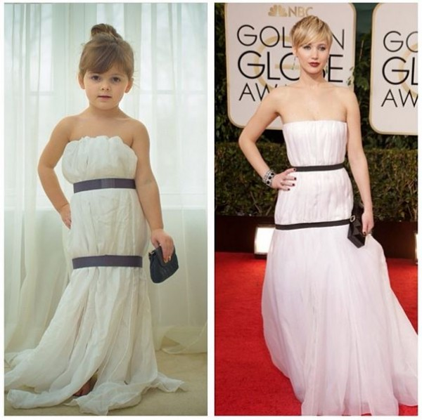 Mayhem's dress looks better than Jennifer Lawrence's!