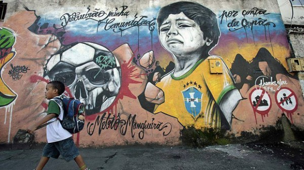 Anti-FIFA World Cup arts appearing across Brazil