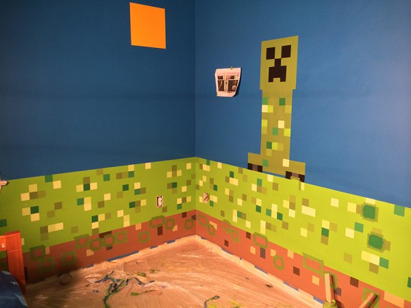 Minecraft Bedroom Designs Real Life the epic creation of a minecraft bedroom - lolaloot